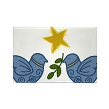 Doves With Star Rectangle Magnet