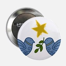 """Doves With Star 2.25"""" Button"""