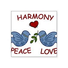 "Harmony Birds Square Sticker 3"" x 3"""