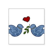 """Peace Birds Square Sticker 3"""" x 3"""""""