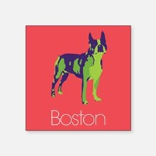 "Boston Terrier Pop Art Square Sticker 3"" x 3"""