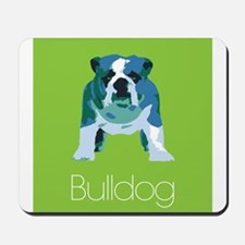 English Bulldog Pop Art Mousepad