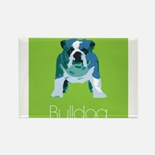 English Bulldog Pop Art Rectangle Magnet