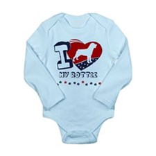 Rottweiler Long Sleeve Infant Bodysuit