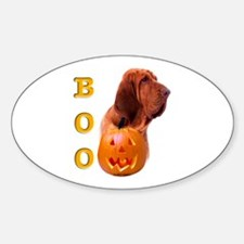 Halloween Bloodhound Boo Oval Decal