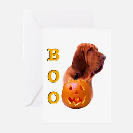 Halloween Bloodhound Boo Greeting Cards (Package o
