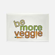 Be More Veggie Rectangle Magnet