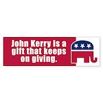KERRY IS A GIFT Bumper Sticker