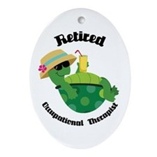 Retired Occupational Therapist Ornament (Oval)