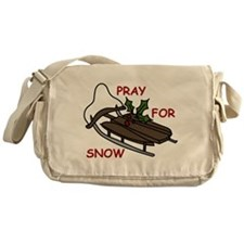 Pray For Snow Messenger Bag
