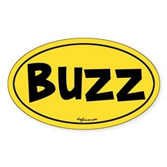 Buzz Oval Decal