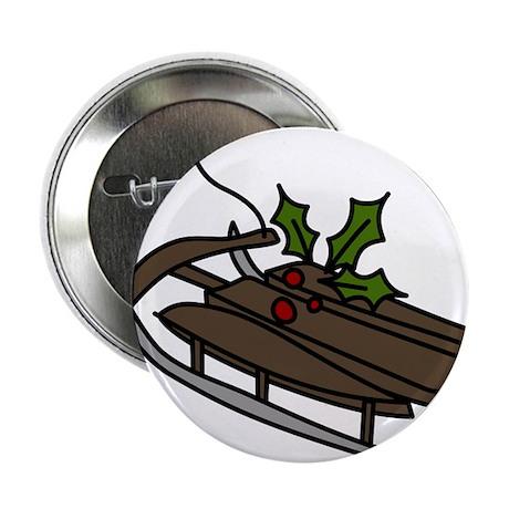 "Christmas Sled 2.25"" Button"