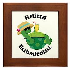 Retired Orthodontist Gift Framed Tile