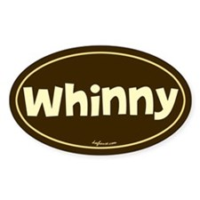 Whinny Oval Decal