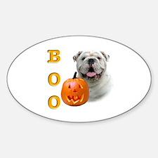 Halloween Bulldog Boo Oval Decal