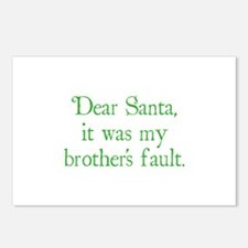 Dear Santa, It was my brother's fault. Postcards (