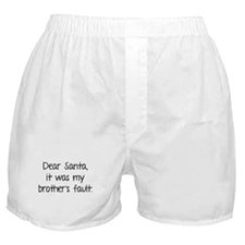 Dear Santa, It was my brother's fault. Boxer Short
