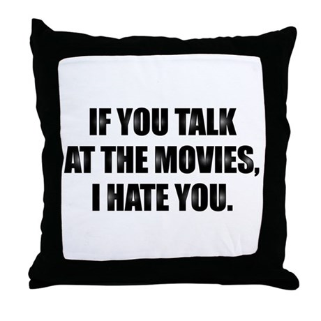 At the Movies - Throw Pillow