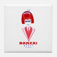 Banzai Kitti Tile Coaster