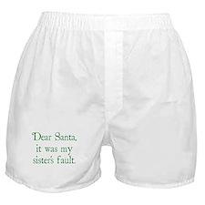 Dear Santa, It was my sister's fault. Boxer Shorts