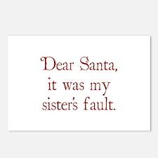 Dear Santa, It was my sister's fault. Postcards (P