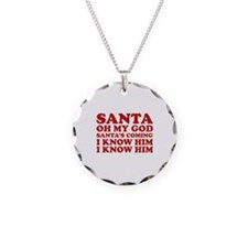 Santa Oh My God Necklace