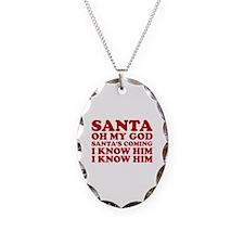 Santa Oh My God Necklace