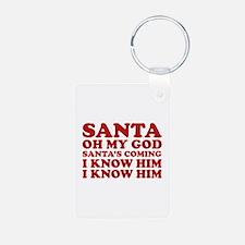 Santa Oh My God Keychains