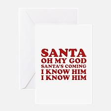 Santa Oh My God Greeting Card