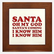 Santa Oh My God Framed Tile