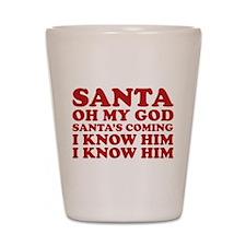 Santa Oh My God Shot Glass