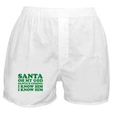 Santa Oh My God Boxer Shorts
