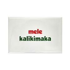 Mele Kalikimaka Rectangle Magnet