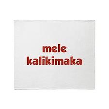 Mele Kalikimaka Throw Blanket