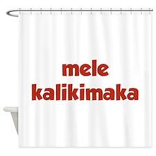 Mele Kalikimaka Shower Curtain