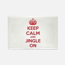 Keep calm and jingle on Rectangle Magnet (100 pack