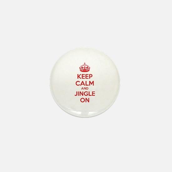 Keep calm and jingle on Mini Button