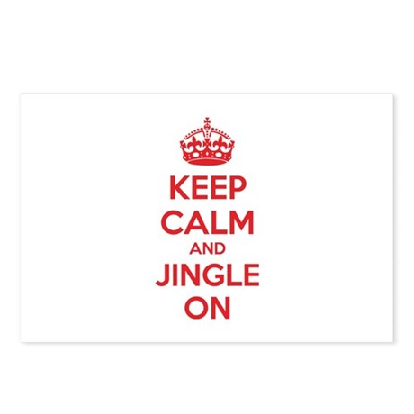 Keep calm and jingle on Postcards (Package of 8)