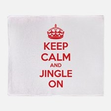 Keep calm and jingle on Throw Blanket
