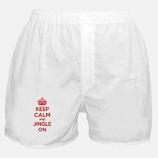 Keep calm and jingle on Boxer Shorts