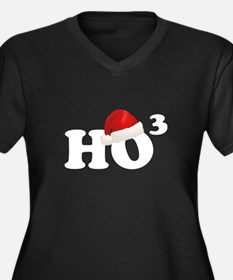 Ho Ho Ho Women's Plus Size V-Neck Dark T-Shirt