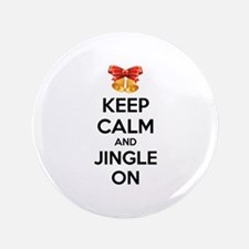 "Keep calm and jingle on 3.5"" Button (100 pack)"