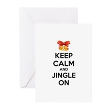 Keep calm and jingle on Greeting Cards (Pk of 20)