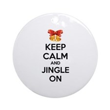 Keep calm and jingle on Ornament (Round)