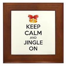Keep calm and jingle on Framed Tile