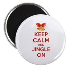 Keep calm and jingle on Magnet