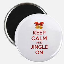 Keep calm and jingle on Magnet
