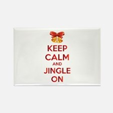 Keep calm and jingle on Rectangle Magnet