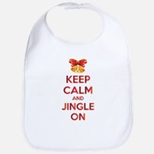 Keep calm and jingle on Bib