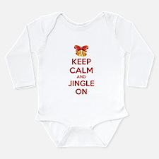 Keep calm and jingle on Long Sleeve Infant Bodysui